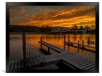 Henley Sunrise, Framed Print