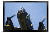 Lancaster Bomber close up, Framed Print