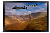 Avro over Wales, Framed Print
