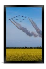 Red Arrows and Eagle Squadron, Framed Print
