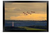 Red Arrows at Fowey 2014, Framed Print