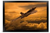 Vulcan XH558 sunset climb, Framed Print