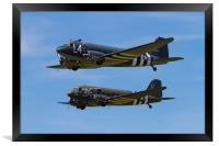 Douglas DC3 Dakota duo, Framed Print