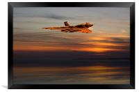 Sunset Vulcan Bomber, Framed Print