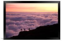 Above the Clouds, Framed Print