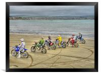 Motocross On The Beach, Framed Print