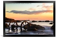 Old Wheels - Seaham, Framed Print