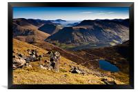 Red Pike and Bleaberry Tarn, Framed Print