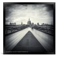 Millennium Bridge, London, Framed Print