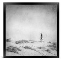 One Man and his Dog, Wells Next the Sea, Norfolk, Framed Print