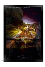 Canal By Moonlight, Framed Print
