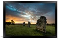Avebury Sunrise, Framed Print