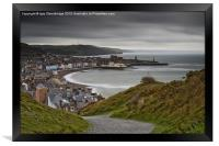 Aberystwyth from Consti on a grey day, Framed Print