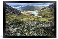 llyn idwal from the Devil's Kitchen, Framed Print