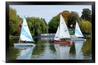 Sailing on the river Thames, Framed Print