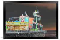 Funky Fair At The End Of The Pier, Framed Print
