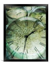 an abstract time, Framed Print