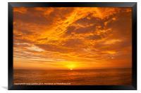 Pacific Sunset, Framed Print