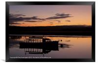 Exe Estuary and ferry boat, Framed Print