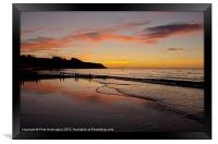 Sunrise Towards Orcombe Point - Exmouth, Framed Print