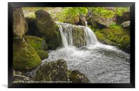 Waterfall on the Okement river, Framed Print