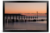 Groynes at Dawlish Warren, Framed Print