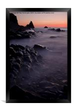 Sunset at Blegberry Beach, Framed Print