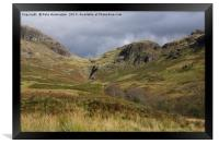 The Hardknott Pass, Framed Print