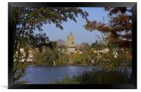 Diss Mere and Church, Framed Print