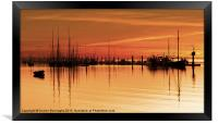 Tall Ships At Dawn, Framed Print