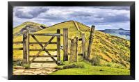 The Great Ridge Castleton In The Peak District., Framed Print