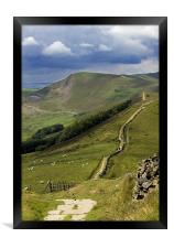 The Great Ridge, Hope Valley, Derbyshire., Framed Print