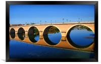 Bergerac Bridge, Framed Print