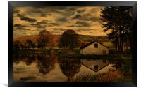 Sunset At The Fishing Lodge, Framed Print