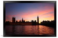 London Skyline Sunset, Framed Print