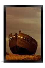 An Old Wrecked Fishing Boat 4, Framed Print