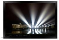 Leeds Castle and Laser Lights, Framed Print