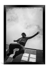 Parkour, Free Runner, Framed Print