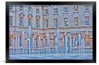 Somerset House Fountains, Framed Print