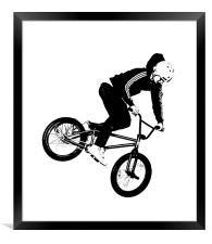 BMX Abstract 1, Framed Print