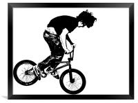 BMX Abstract 2, Framed Print