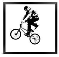 BMX Abstract 3, Framed Print