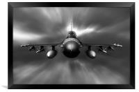 F-16 Fighting Falcon, Framed Print