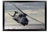 Merlin Helicopter, Framed Print