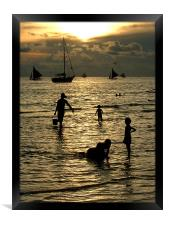 Silhouettes at Sunset, Framed Print