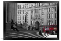 London Buses at St Pauls in London, Framed Print