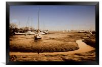 The Tide Is Out!, Framed Print