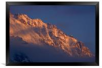 Alpine sunset I, Framed Print