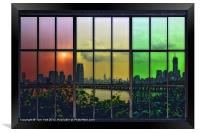 SHADES OF NEW YORK, Framed Print