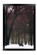 A LONELY WINTER DAY, Framed Print